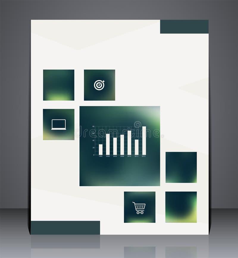 Biznesowy broszurki ulotki projekt z elementami Infographic w A4 rozmiarze royalty ilustracja