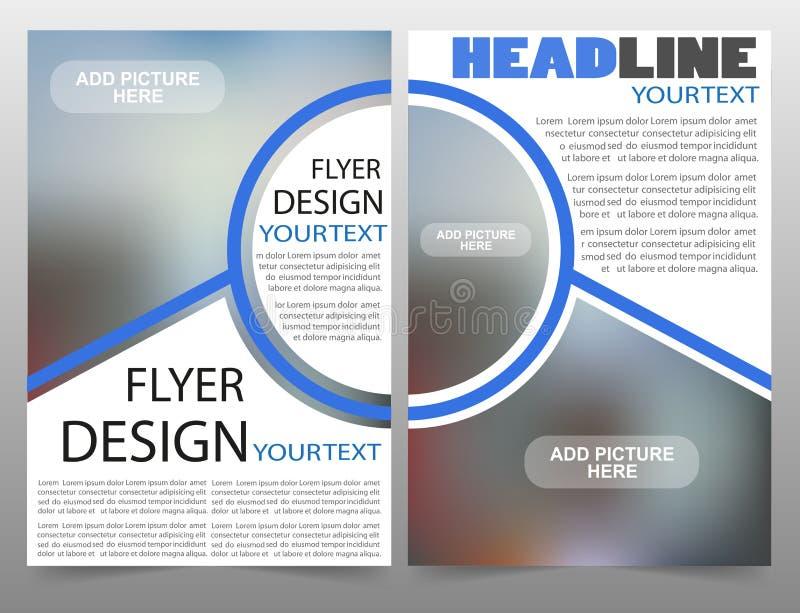 Biznesowy broszurki ulotki projekta układu szablon royalty ilustracja