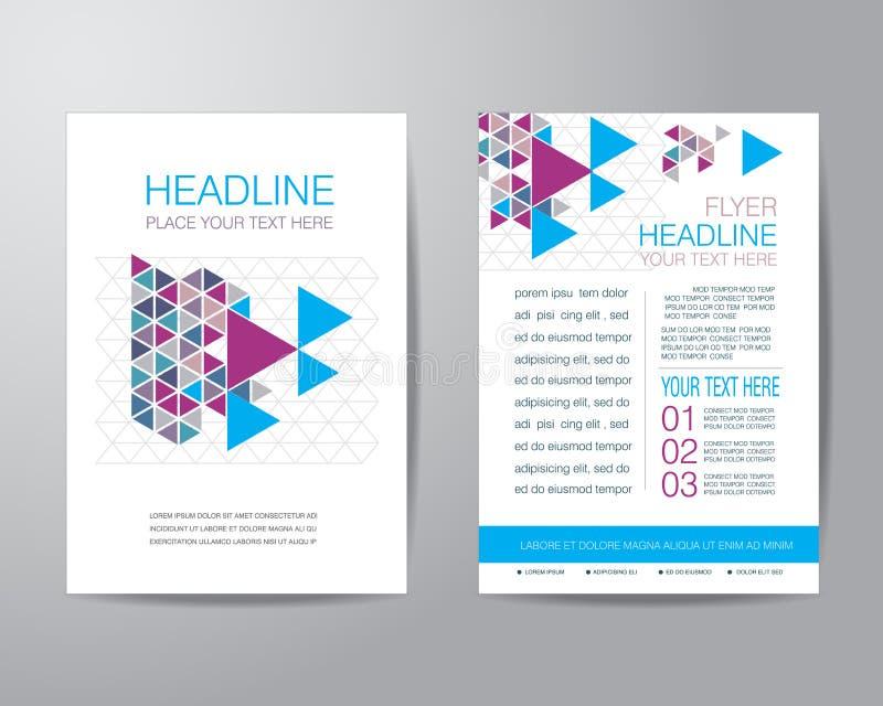 Biznesowy broszurki ulotki projekta układu szablon w A4 rozmiarze, z ilustracja wektor