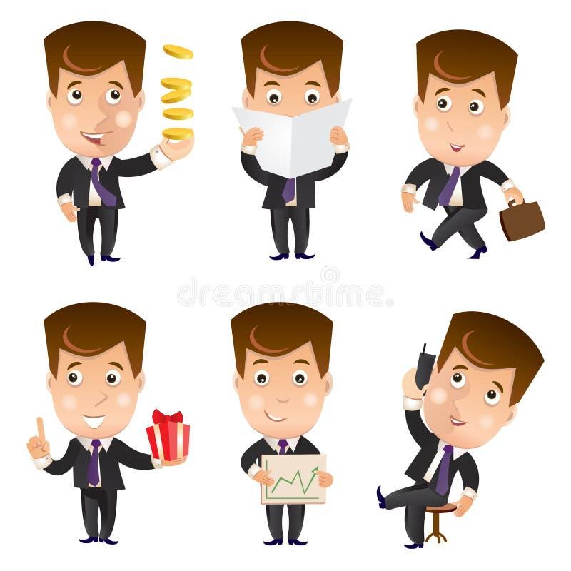 Biznesowy charakter - set ilustracja wektor