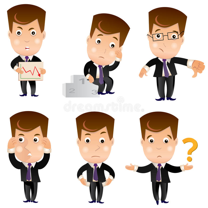 Biznesowy charakter - set ilustracji