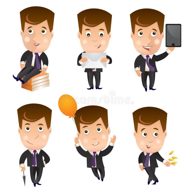 Biznesowy charakter - set royalty ilustracja