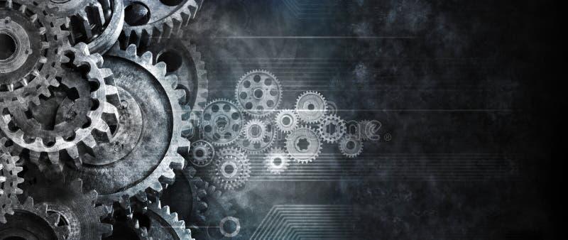 Biznesowy Cogs technologii tło