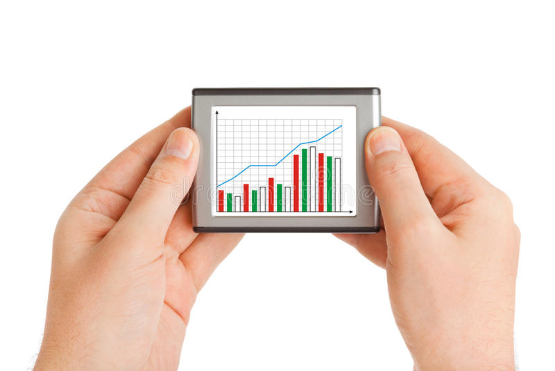biznesowy diagrama ręk ekran zdjęcie royalty free