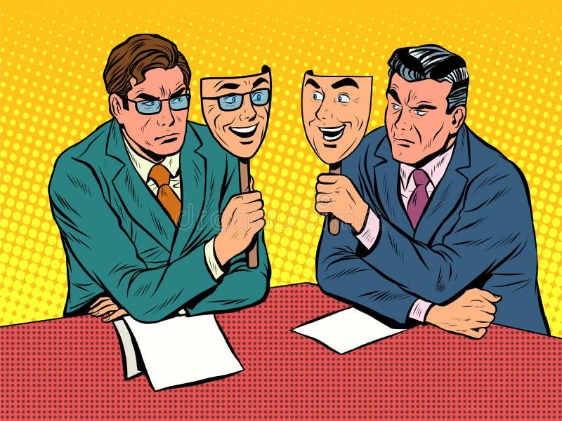 Biznesowy dialog jest nieszczerym komunikacją ilustracja wektor