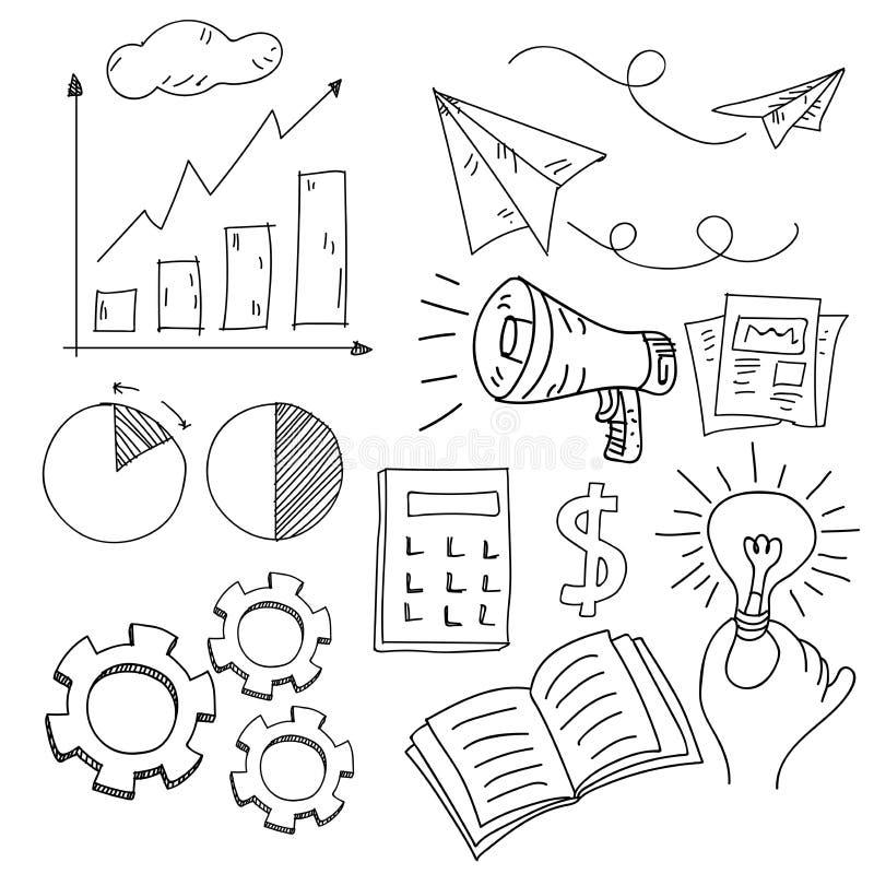 Biznesowy doodle również zwrócić corel ilustracji wektora royalty ilustracja
