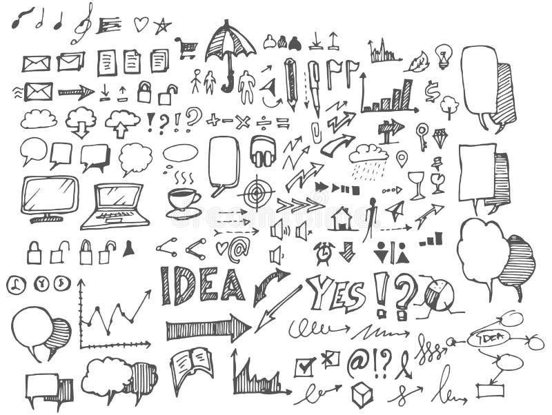 Biznesowy doodles nakreślenia eps10 wektor ilustracja wektor