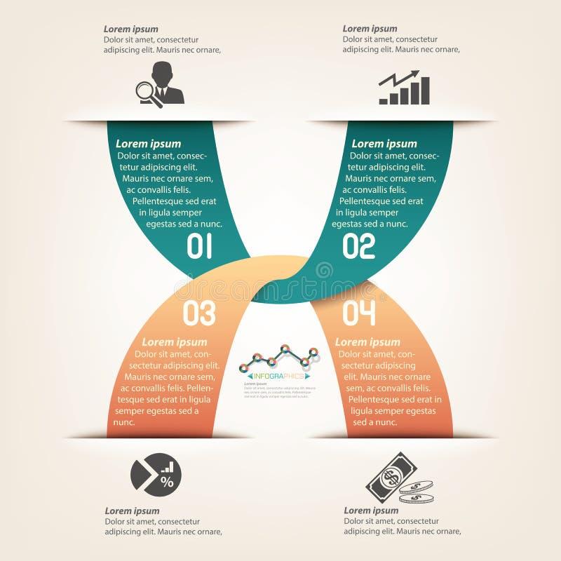 Biznesowy Ewidencyjny graficzny szablonu projekt ilustracji