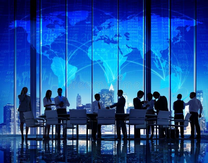 Biznesowy Globalny pejzaż miejski architektury budynku biznes Metropo zdjęcia stock