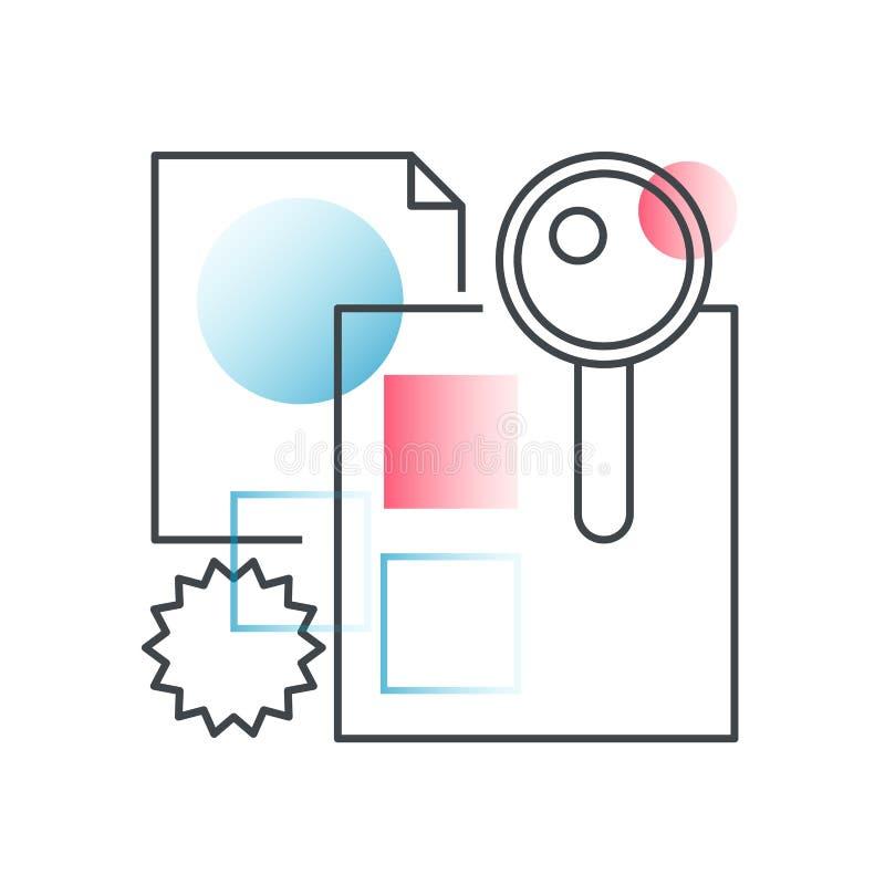 Biznesowy gmeranie, biurowego zarządzania wektorowy pojęcie w modnej linii z gradientowym płaskim kolorem ilustracja wektor