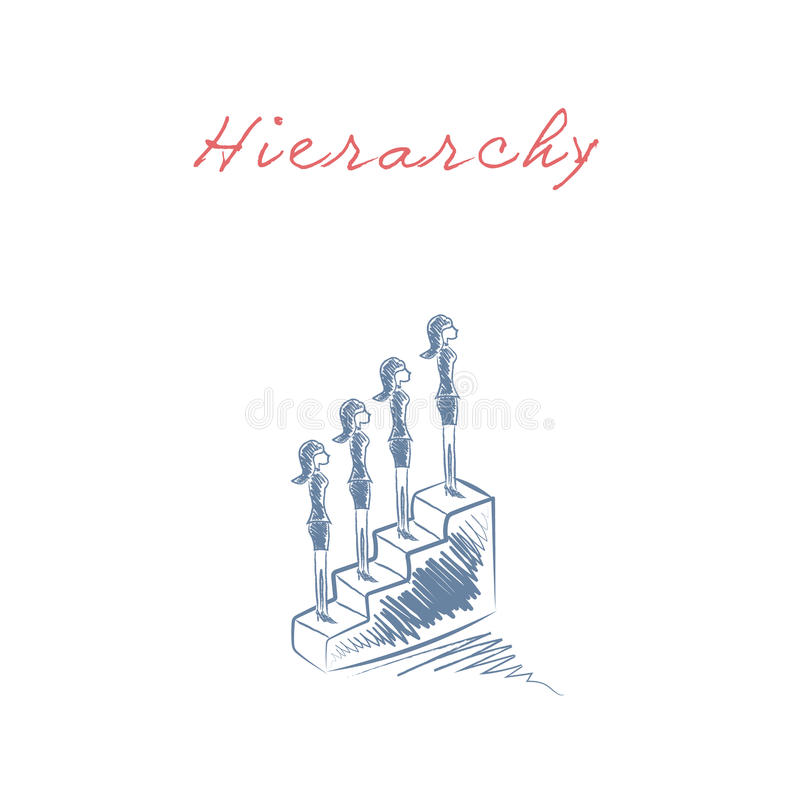 Biznesowy hierarchii i kariery promocyjny korporacyjny drabinowy wektorowy pojęcie ilustracji