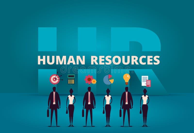 Biznesowy HR pojęcie Działu zasobów ludzkich kierownik zatrudnia pracownika ilustracji