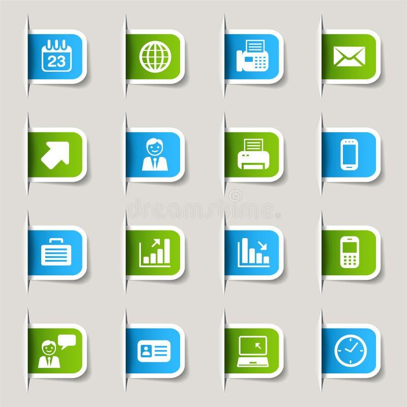 biznesowy ikon etykietki biuro ilustracji