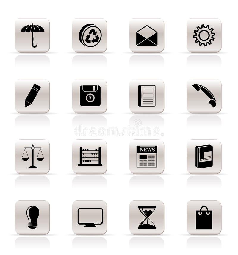 biznesowy ikon internetów biuro prosty ilustracji