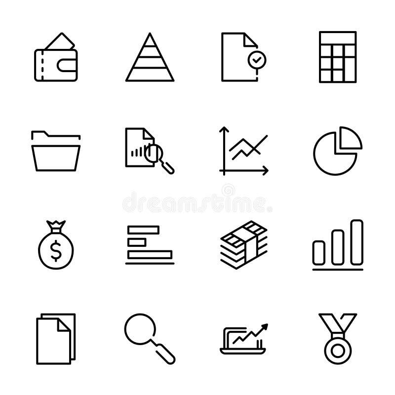 Biznesowy ikona set ilustracji