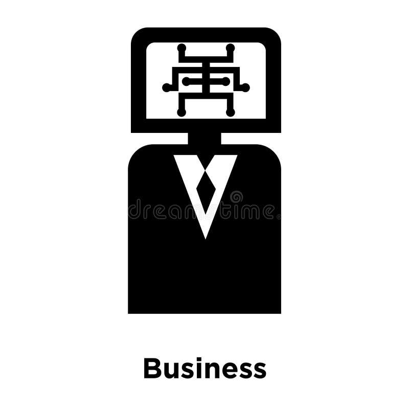 Biznesowy ikona wektor odizolowywający na białym tle, loga pojęcie royalty ilustracja