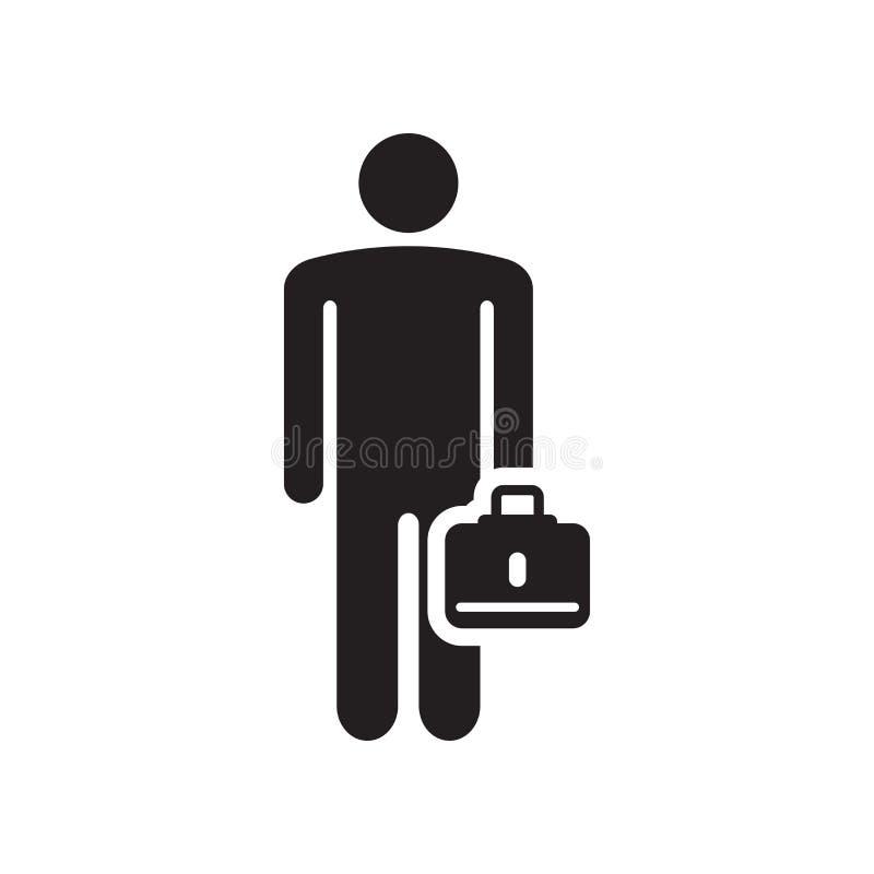 Biznesowy ikona wektoru znak i symbol odizolowywający na białym tle, Biznesowa logo pojęcia ikona royalty ilustracja