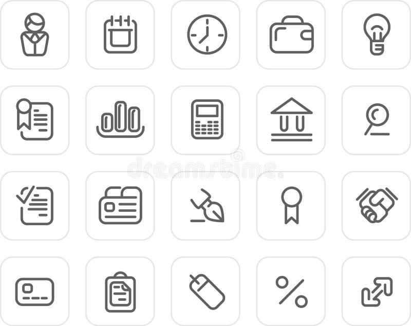 biznesowy ikony równiny set royalty ilustracja