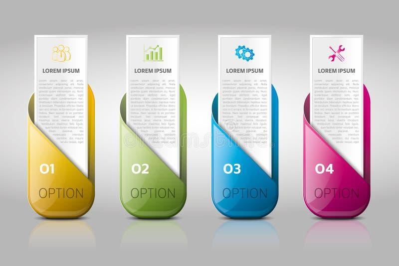 Biznesowy infographic, obieg, badanie, linia czasu, biznesowy szablon royalty ilustracja