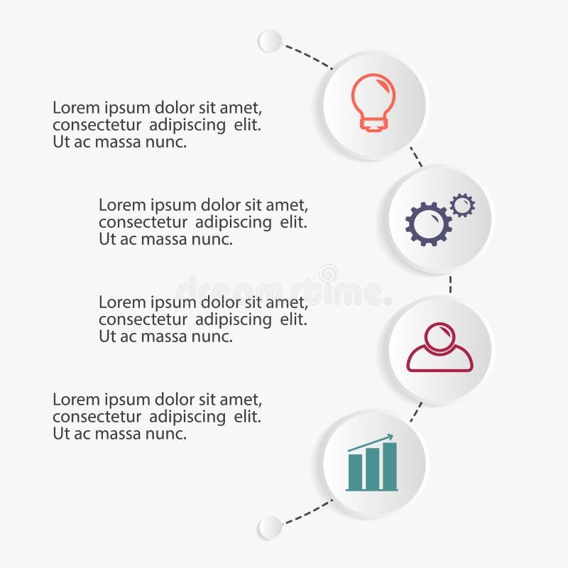 Biznesowy infographic szablon ilustracji