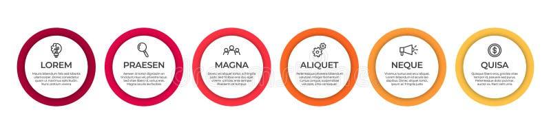 Biznesowy infographic szablon Linia czasu pojęcie dla prezentacji, raportu, infographic i biznesowego dane unaocznienia, ilustracji