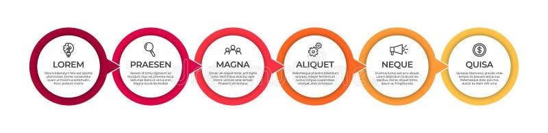 Biznesowy infographic szablon Linia czasu poj?cie dla prezentacji, raportu, infographic i biznesowego dane unaocznienia, ilustracja wektor