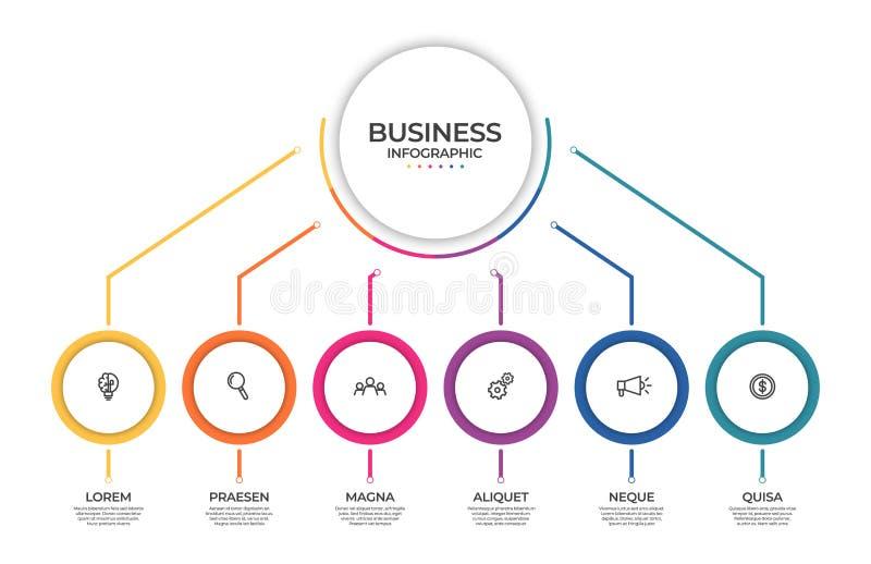 Biznesowy infographic szablon Linia czasu poj?cie dla prezentacji, raportu, infographic i biznesowego dane unaocznienia, royalty ilustracja