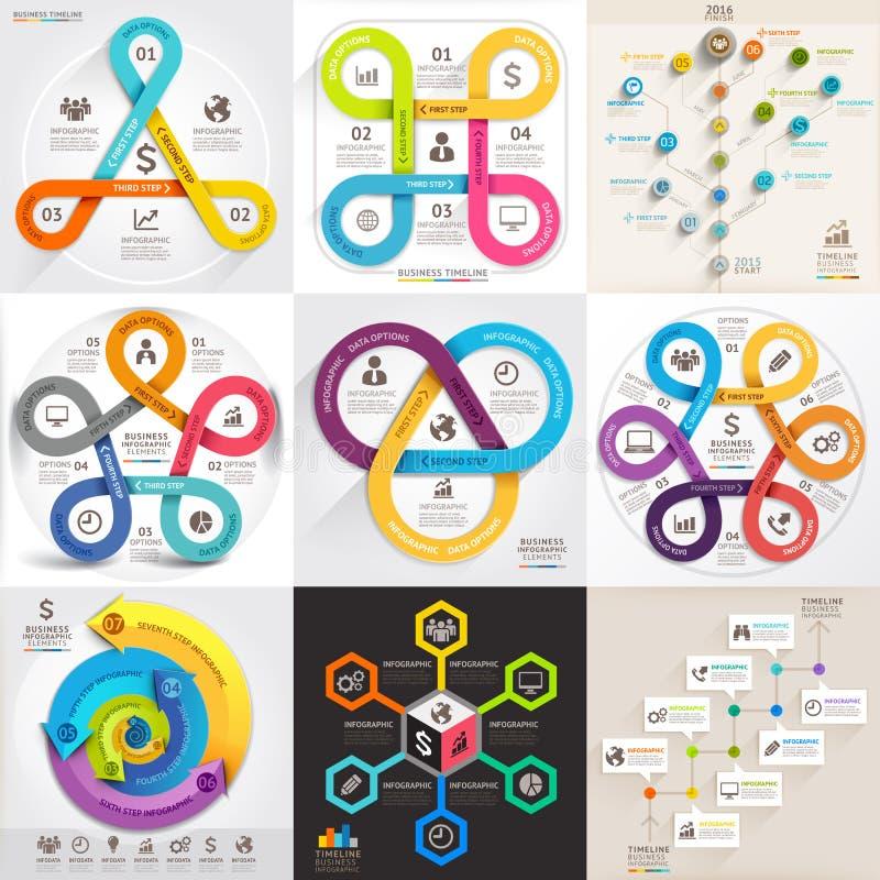 Biznesowy infographic szablonu set ilustracji