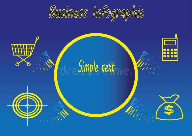 Biznesowy infographic z marketingowymi elementami zdjęcie stock