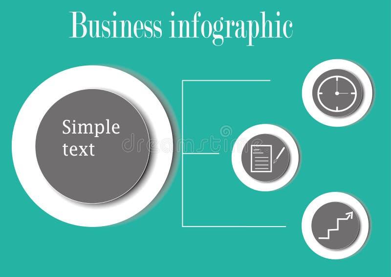 Biznesowy infographic z okręgami fotografia stock