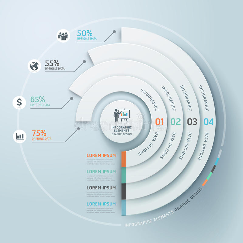 Biznesowy Infographics okręgu origami styl. ilustracja wektor