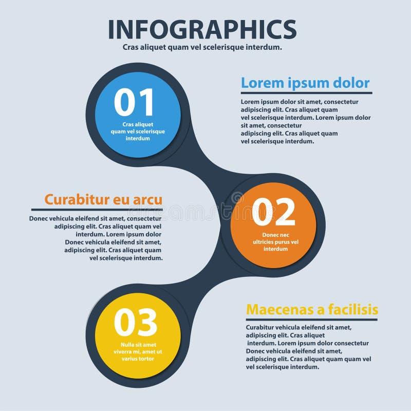 Biznesowy infographics okręgu origami styl może używać dla obieg układu, podchodził opci sieć, sztandar, diagram, numerowe opcje, ilustracji