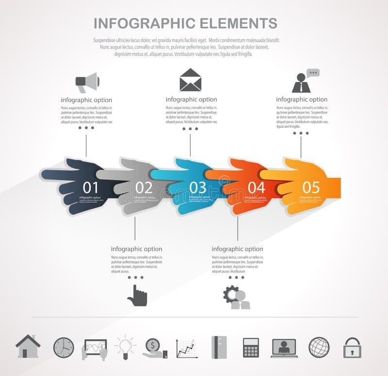 Biznesowy Infographics projekt royalty ilustracja
