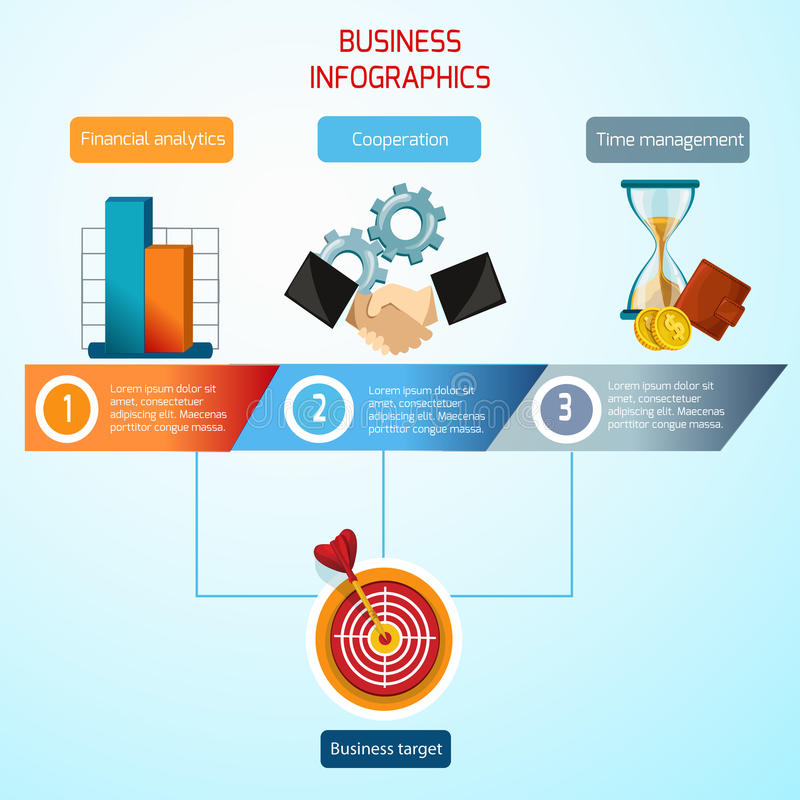 Biznesowy infographics set royalty ilustracja