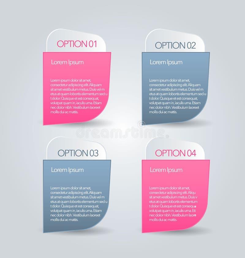 Biznesowy infographics zakładek szablon dla prezentaci, edukacja, sieć projekt, sztandar, broszurka, ulotka