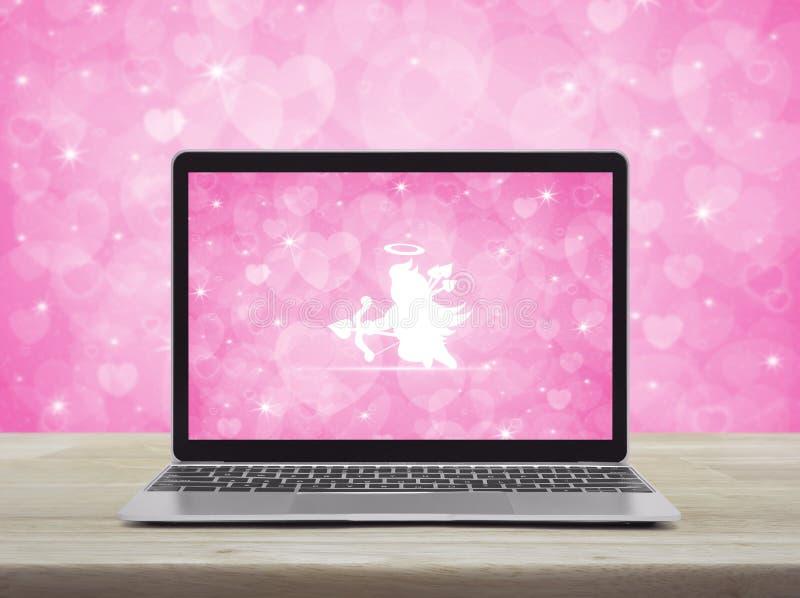Biznesowy internet datuje online, walentynka dnia pojęcie fotografia stock