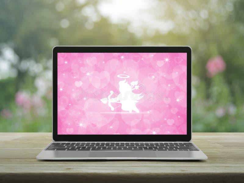 Biznesowy internet datuje online, walentynka dnia pojęcie obrazy stock