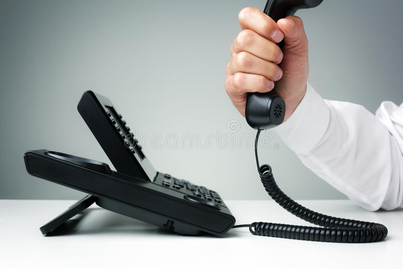 Biznesowy kabla naziemnego telefon fotografia royalty free