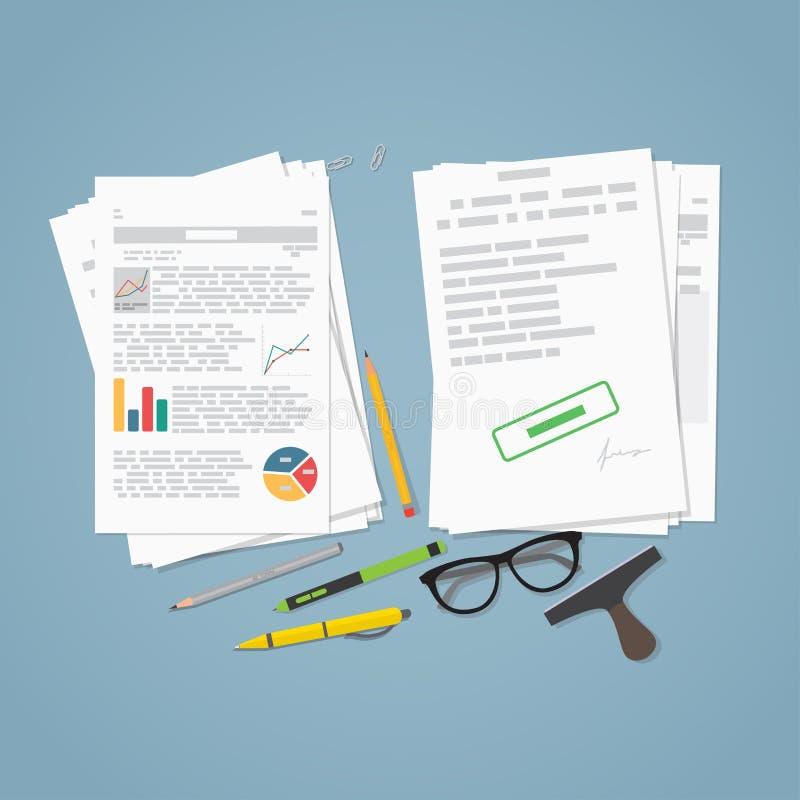Biznesowy kartoteka raport ilustracji