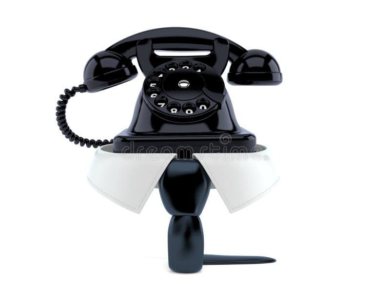 Biznesowy kołnierz z telefonem royalty ilustracja