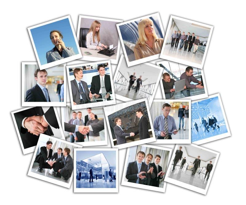 biznesowy kolaż wiele fotografie fotografia royalty free