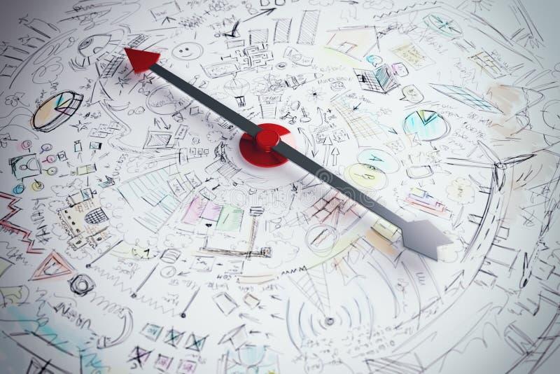 Biznesowy kompas obraz royalty free