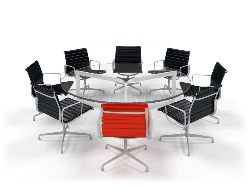 Biznesowy konferencyjny stół ilustracja wektor
