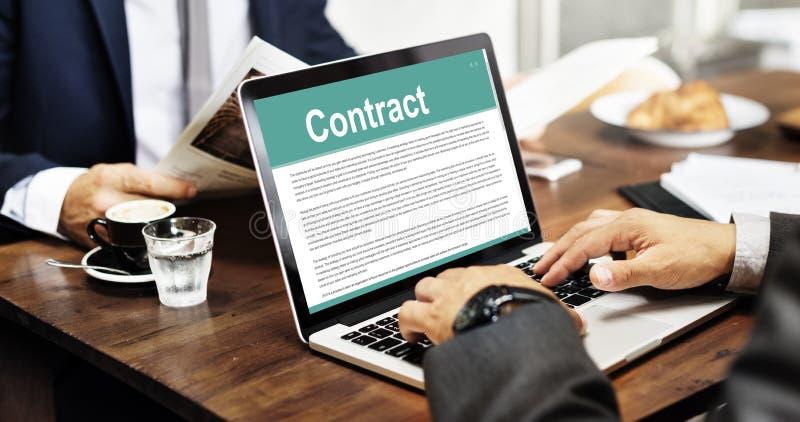 Biznesowy Kontraktacyjnych terminów Legalnej zgody pojęcie obrazy royalty free