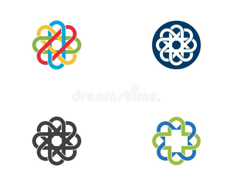 Biznesowy korporacyjny abstrakcjonistyczny jedność wektoru logo ilustracji