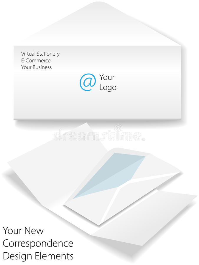 biznesowy korporacyjny koperty listu loga materiały ilustracji