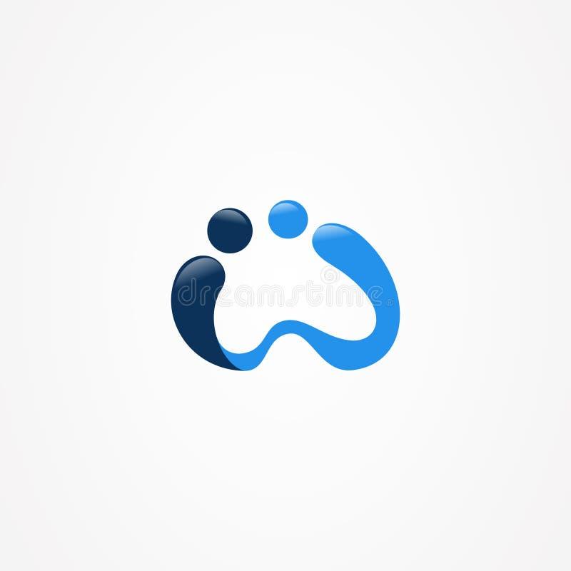 Biznesowy korporacyjny list w z błękitnym kolorem ilustracja wektor