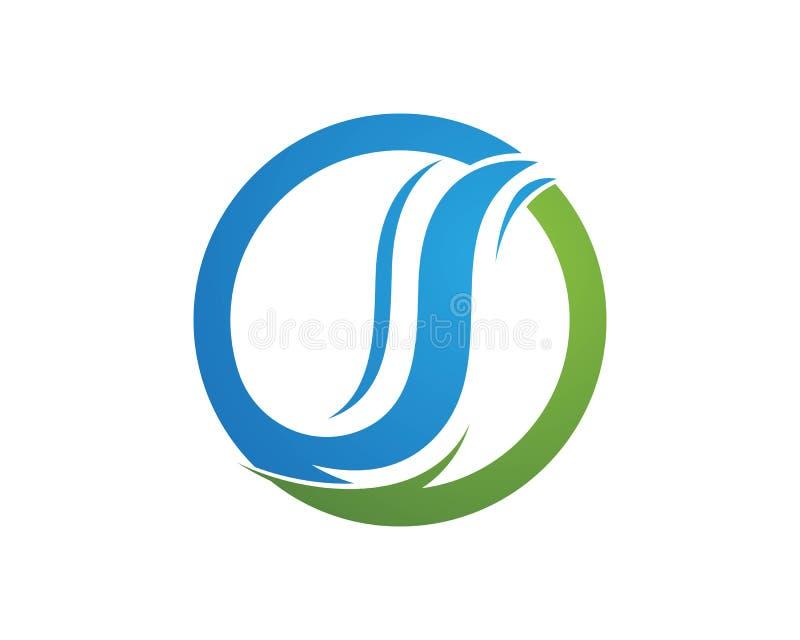 Biznesowy korporacyjny listowego S loga projekt royalty ilustracja