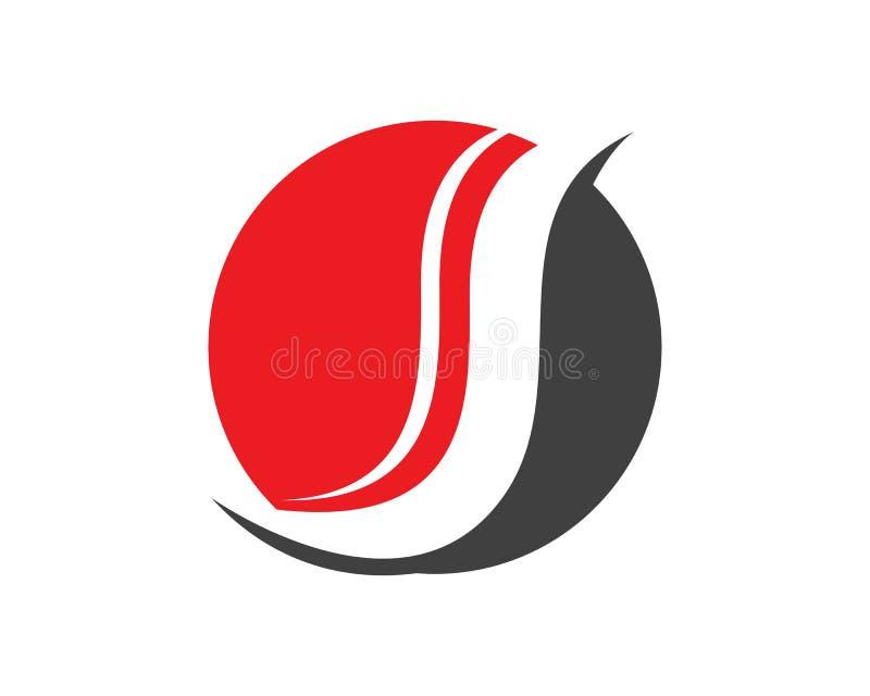 Biznesowy korporacyjny listowego S loga projekt ilustracji