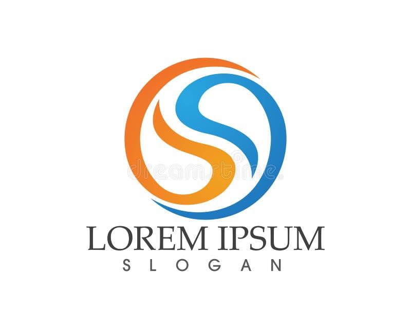 Biznesowy korporacyjny listowego S loga projekta wektor ilustracji